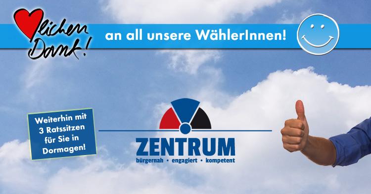 Kommunalwahl 2020 in Dormagen - Das Zentrum sagt Danke