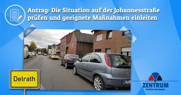 Zentrum Dormagen beantragt, Verkehr, Parken, Stau auf Johannesstraße Delrath zu prüfen