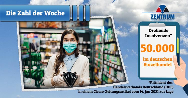 Drohende Corona Insolvenzen im Einzelhandel in Deutschland
