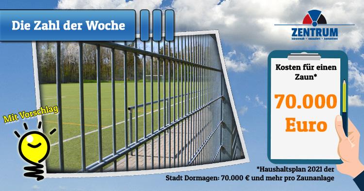 Zaunanlagen von Sportstätten in Dormagen - Zentrum unterbreitet Idee