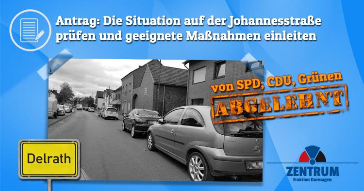 SPD, CDU, Grüne lehnen Antrag zur Entlastung der Johannesstraße in Delrath ab