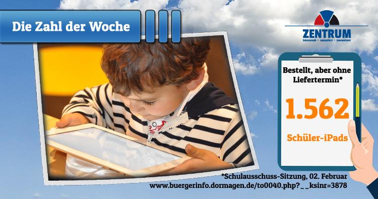 Verwaltung bestellt iPads für Schulen in Dormagen ohne Liefertermin