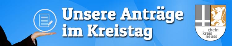 Anträge vom Zentrum im Kreistag Rhein-Kreis Neuss für Dormagen