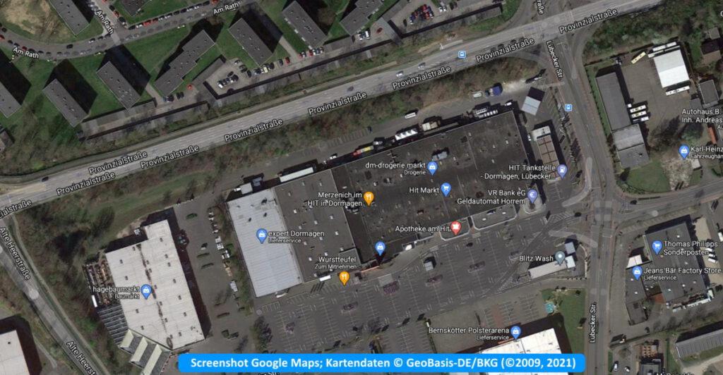 Müllproblematik an der Provinzialstraße Dormagen, im Top West Gewerbegebiet