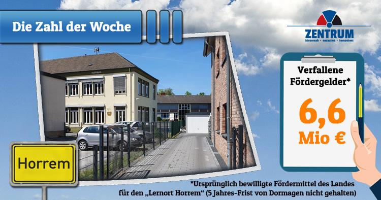 6,6 Mio Euro Fördergelder für Schule Lernort Horrem in Dormagen verfallen