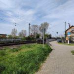 Gleise Bahnhof Nievenheim Delrath Fußgänger