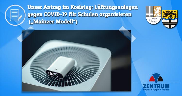Zentrum beantragt im Kreis Neuss Luftfilter für Schulen nach Mainzer Modell