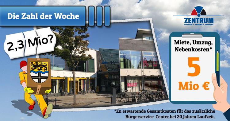 Dormagen Bürgerservice-Zentrum 5 Millionen Euro Kosten zu erwarten